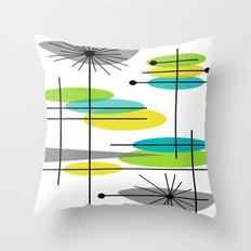 Mid-Century Modern Atomic Design Throw Pillow