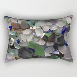 Sea Glass Assortment 3 Rectangular Pillow