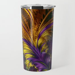 Fractal feather Travel Mug