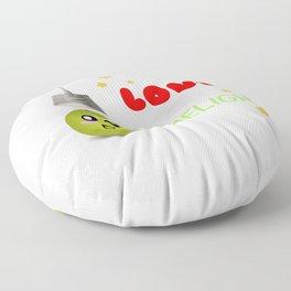 I Love The Limelight Cute Lime Pun Floor Pillow