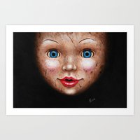 doll Art Prints featuring Doll by Nika Akin