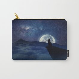 lonely wolf Carry-All Pouch