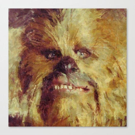 Chewbacca Starwars Character Illustration Canvas Print