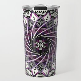Sahasrara. Crown chakra mandala Travel Mug