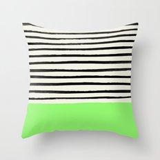 Key Lime x Stripes Throw Pillow