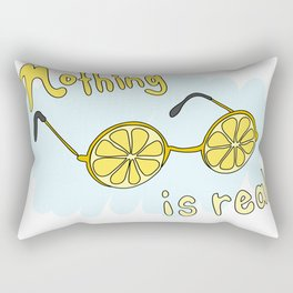 Nihilistic Lemon Glasses Rectangular Pillow