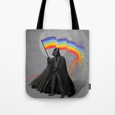 The Rainbow Side of the Force Tote Bag