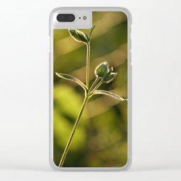 Wild garden flower Clear iPhone Case