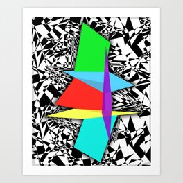 Color Sculpture Art Print