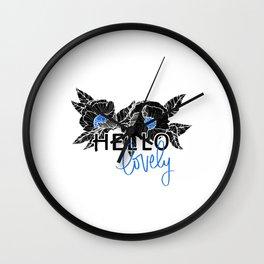 Hello Lovely - Bright Blue Wall Clock