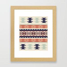 Native American Geometric Pattern Framed Art Print