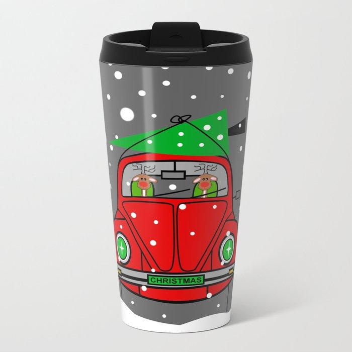 Santa Lane Metal Travel Mug