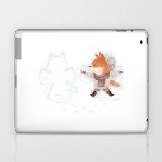 Winter Fox Snow Angel Laptop & iPad Skin