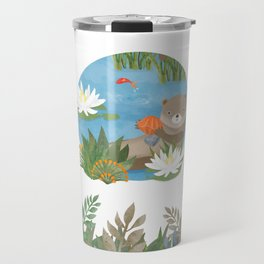 Otter in the forest Travel Mug