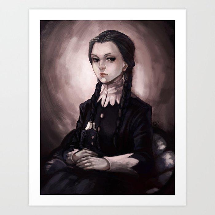 Little Wednesday Addams Art Print The Addams Family