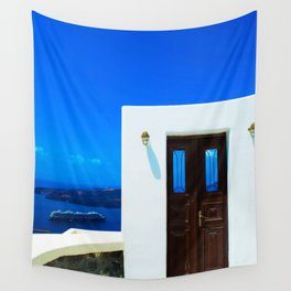 Door in the paradise Wall Tapestry