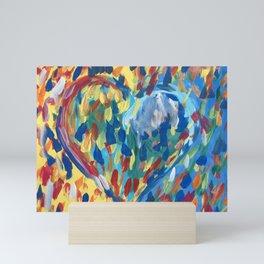 Heart Confetti Mini Art Print