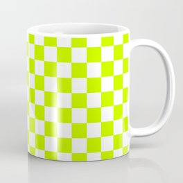 Checker (Lime/White) Coffee Mug