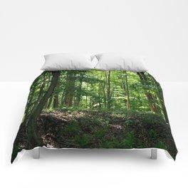 Pine tree woods Comforters