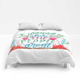 I Don't Like People Comforters