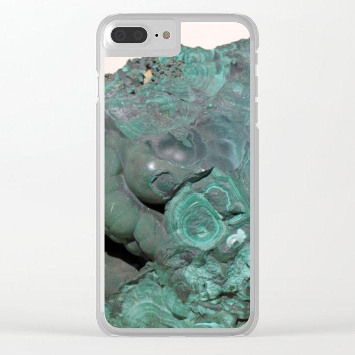 Natural Malachite Clear iPhone Case