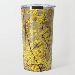 trees yellow leaves Travel Mug