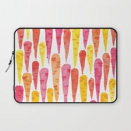 Rainbow Carrot pattern // watercolor in pink + orange + yellow Laptop Sleeve