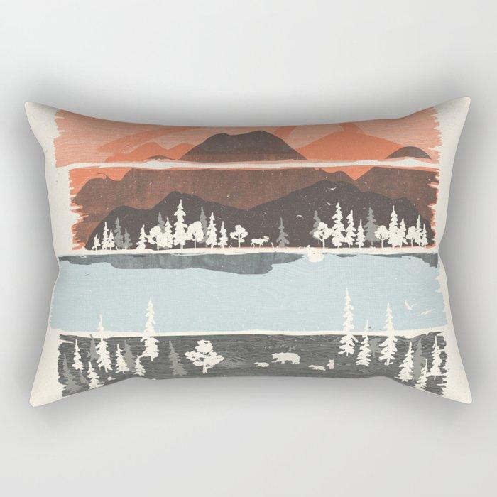 Morning by Bear River... Rectangular Pillow