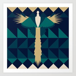 Aztec Peacock Art Print