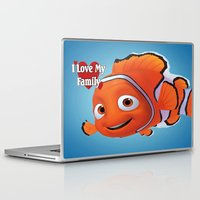 nemo Laptop & iPad Skins featuring nemo  , nemo  games, nemo  blanket, nemo  duvet cover by ira gora