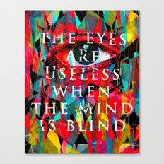 Useless Eyes Canvas Print