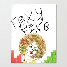 Foxy Fine Canvas Print