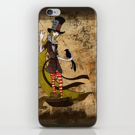 Mad Alice: Why is a Raven like a Writing Desk? iPhone Skin