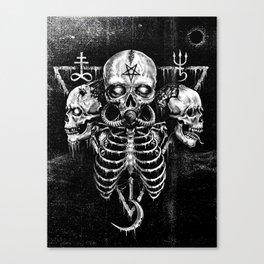 Black Sun Canvas Print