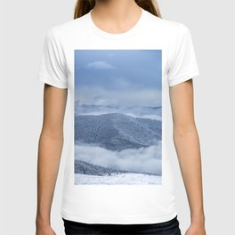 AERIAL PHOTOGRAPHY OF FOREST UNDER CLOUDY SKY DURING DAYTIME T-shirt