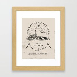USS Texas Battleship, US Navy Framed Art Print