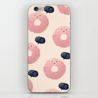 eat iPhone & iPod Skins featuring Eat Me by Nan Lawson