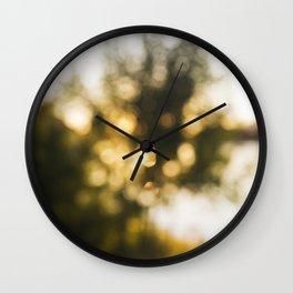 Golden Days of Summer Wall Clock