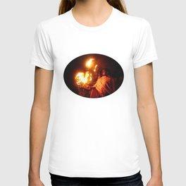 Fire on the Ganga River T-shirt