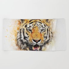 Tiger Abstract Beach Towel
