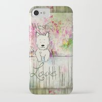 westie iPhone & iPod Cases featuring  Westie Love ~ West Highland Terrier ~ Ginkelmier by Ginkelmier