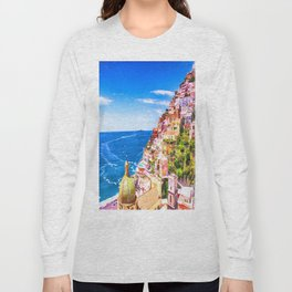 Colorful Positano Italy Long Sleeve T-shirt