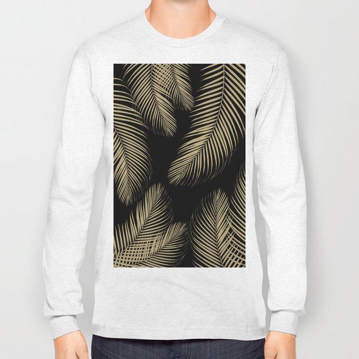 Palm Leaves - Gold Cali Vibes #4 #tropical #decor #art #society6 Long Sleeve T-shirt