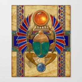 Sarcophagus 3d Egyptian Folk Art Canvas Print