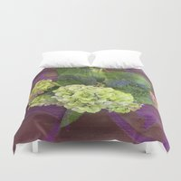 hydrangea Duvet Covers featuring hydrangea by Federico Faggion