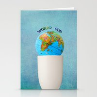 world cup Stationery Cards featuring World cup by Anne Seltmann