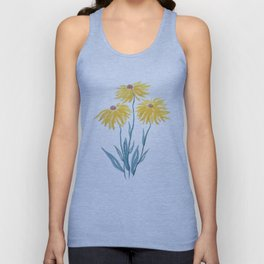 three yellow flowers Unisex Tank Top