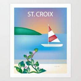 St. Croix, Virgin Islands- Skyline Illustration by Loose Petal Art Print
