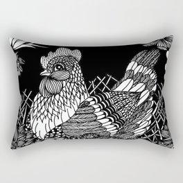 "Inktober, Day 5 ""Chicken"" #inktober #inktober2018 Rectangular Pillow"