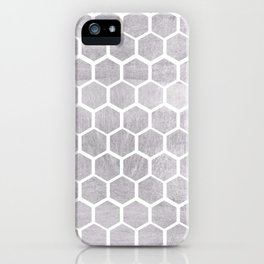 Silver bee cube iPhone Case